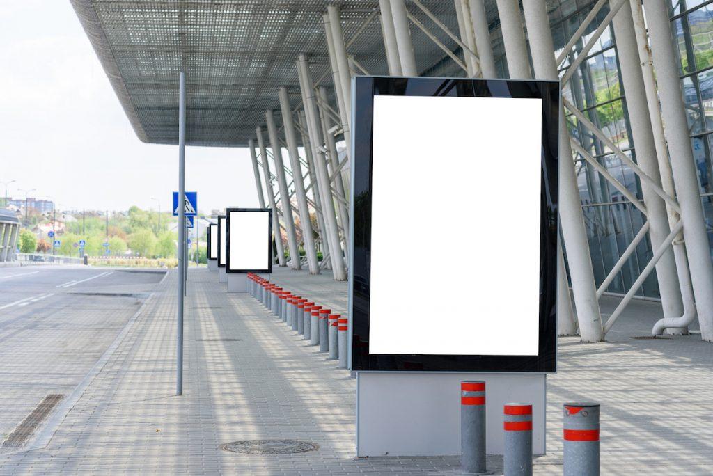 Blank Outdoor Advertising